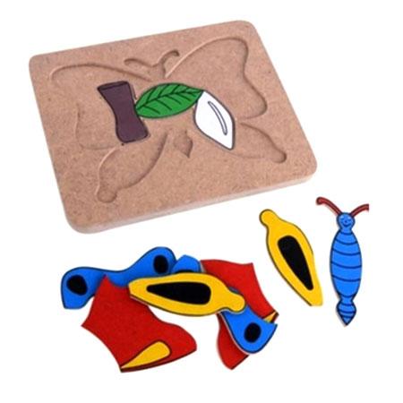 puzzle metamorfosis - Puzzle Metamorfosis Kupu-kupu