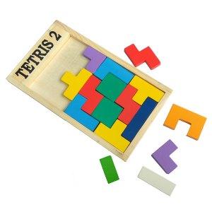 Mainan tetris susun - Tetris Kayu