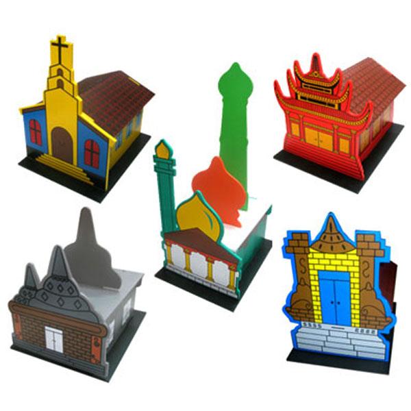 maket rumah ibadah set - Maket Rumah Ibadah Set