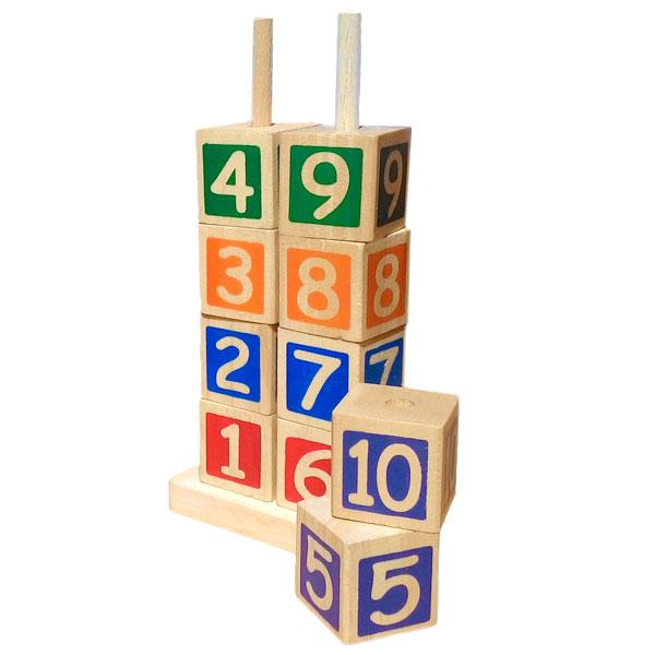 menara kubus angka - Menara Balok Angka