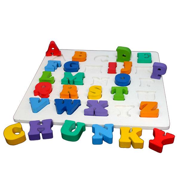 puzzle chunky abc - Puzzle Chunky Abjad Besar