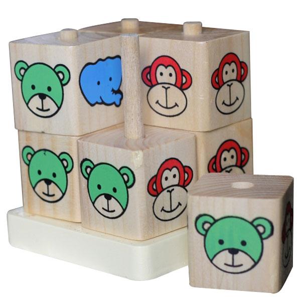 puzzle kubus binatang - Puzzle Kubus Binatang