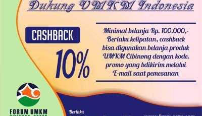 promo produk umkm - Cashback 10% Untuk Belanja Produk UMKM