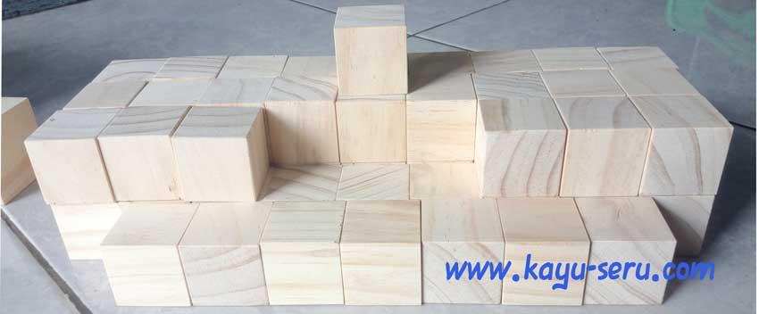 kubus pinus 4cm - Membuat Kubus 4cm Kayu Pinus Ukuran Custom