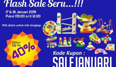 flash sale januari - Flash Sale Januari Seru Diskon Sampai 40%