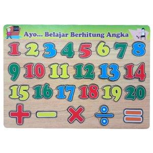 puzzle belajar angka - Souvenir Manasik Haji PAUD Kenanga Tangerang