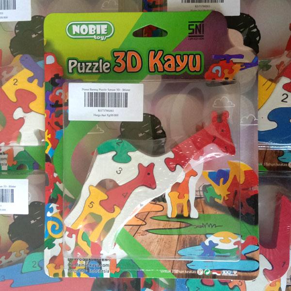 puzzle kuda 3d 1 - Puzzle Jerapah 3D