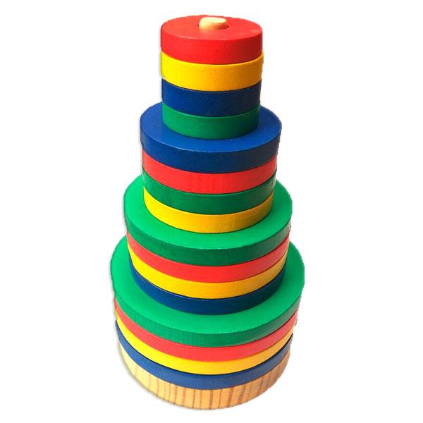 menara pelangi bulat - Menara Warna Bulat