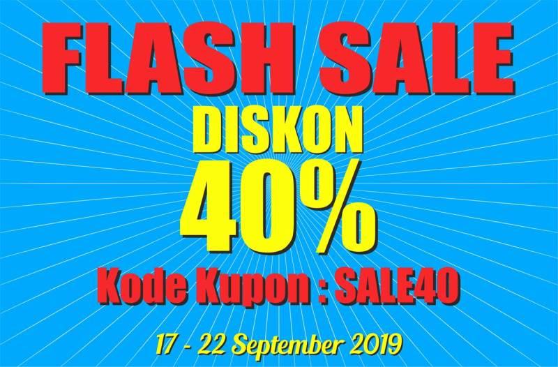 banner flashsale - Serunya Flash Sale Semua Diskon 40% Selama Lima Hari