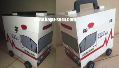 kotak p3k mobil ambulance - Membuat Kotak P3K Bentuk Mobil Ambulance Dari Kayu