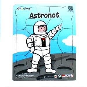 Puzzle Profesi Astronot - Plakat Untuk Wisuda Dari Kayu Untuk TK Dhian