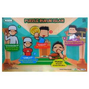 Puzzle Rukun Islam - Plakat Manasik PAUD Lengkap Dengan Nama Siswa