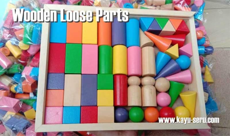 mainan loose parts kayu - Mainan Loose Parts Belajar Asyik Sambil Bermain