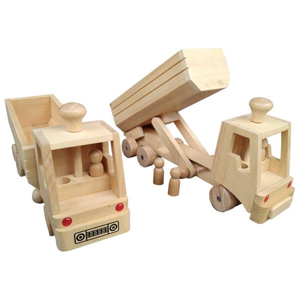 Truk Kayu - Mainan Truk Kayu