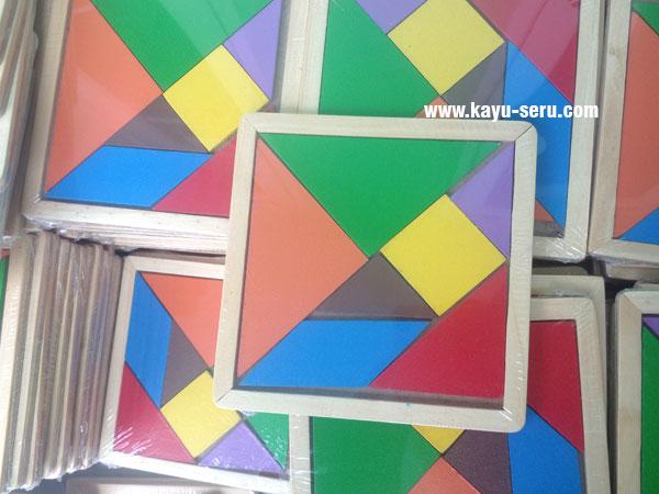 produksi tangram kayu - Puzzle Tangram Pesanan Custom Sesuai Keinginan
