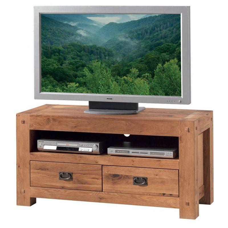 meuble tv chene massif 120cm lodge casita lodtv1