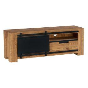meuble tv pin massif 140cm coopers casita cootv140