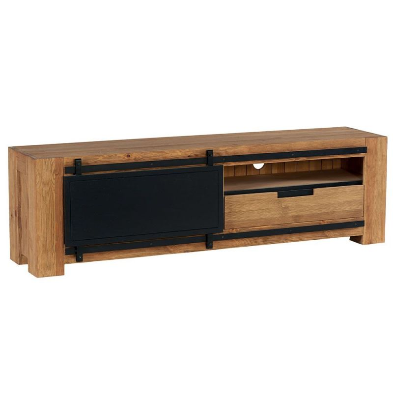 meuble tv pin massif 180cm coopers casita cootv180