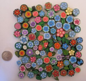 100 polyclay beads for ebay