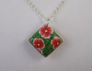 flower  and leaf pendant