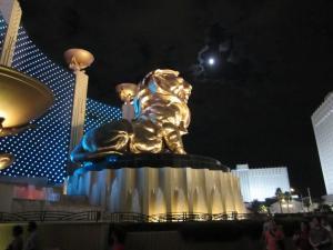 MGM lion in Las Vegas