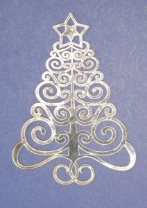 filigree Christmas tree