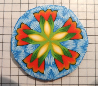 polymer clay kaleidoscope cane experiments - flower pattern
