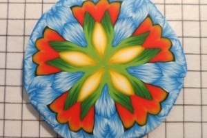 kaleidoscope-orange-green-blue-yellow-cane-k-vincent-polymer clay