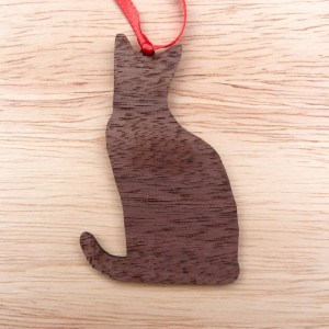 cat silhouette Christmas tree decoration