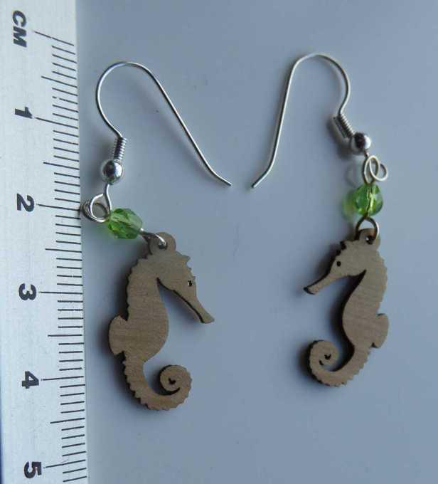 seahorse wooden earrings - compressed