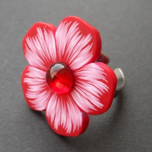 red flower ring