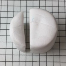 Letter D polymer clay alphabet cane - cut a third