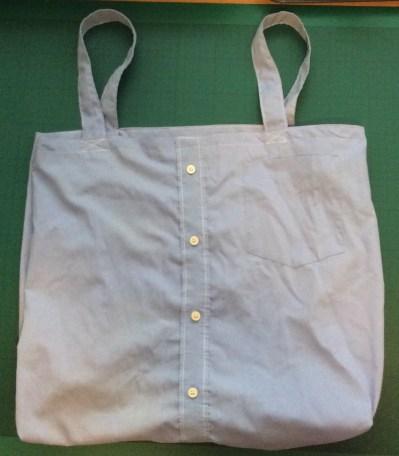 turn an old shirt into a shopping bag
