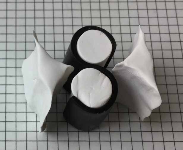 Letter S polymer clay alphabet cane tutorial - flatten ends