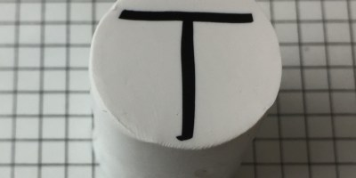 Letter T polymer clay alphabet cane tutorial