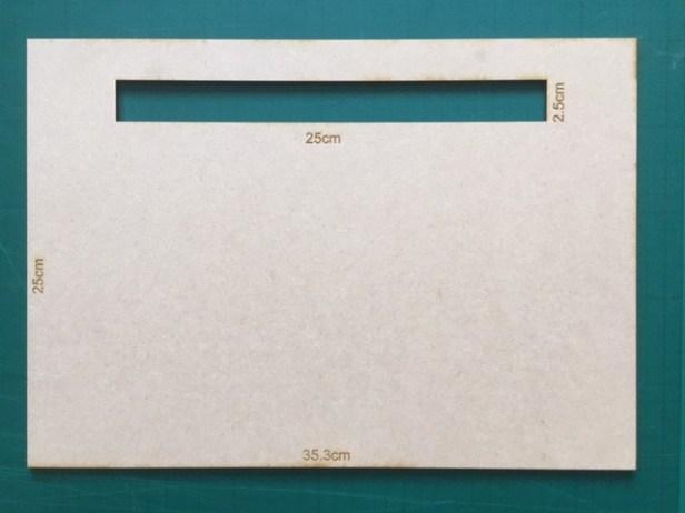 laser-cut postage size gauge - large letter size