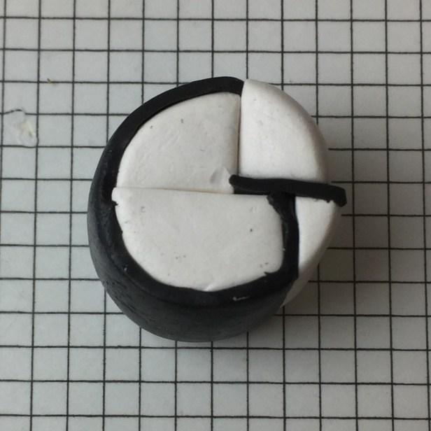 Letter G polymer clay alphabet cane - step11