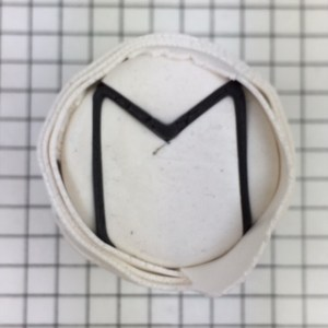 polymer clay letter M alphabet cane free tutorial - wrap in white clay