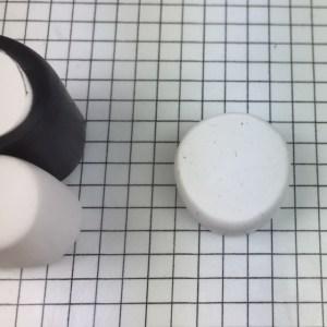 Letter P polymer clay alphabet cane tutorial - retrieve small cylinder