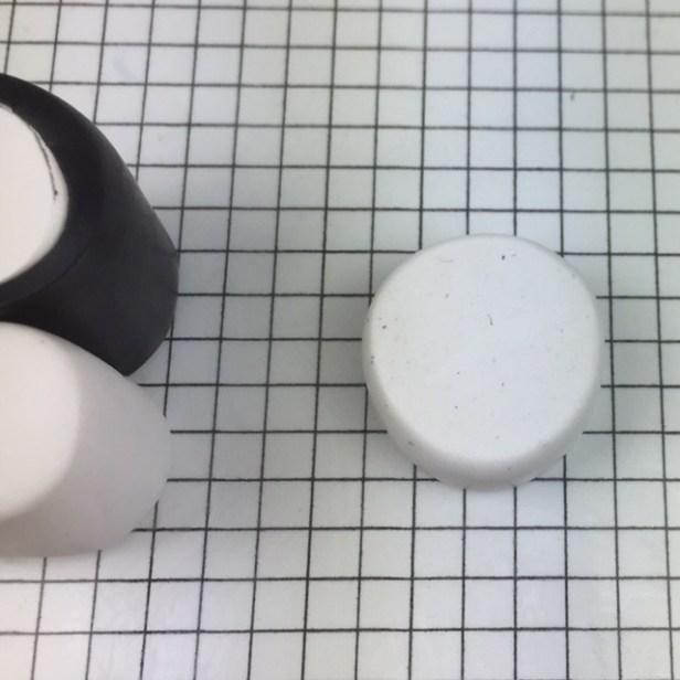 Letter R polymer clay alphabet cane tutorial - retrieve small cylinder