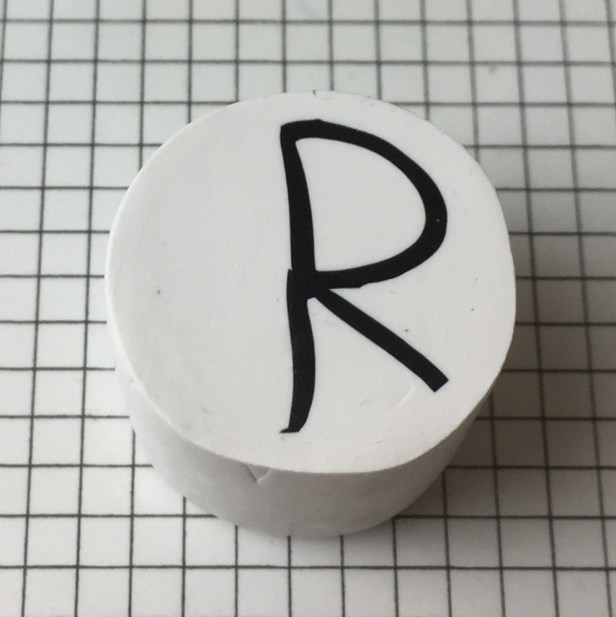 Letter R polymer clay alphabet cane tutorial
