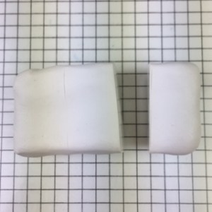 polymer clay letter N alphabet cane free tutorial - cut off one third