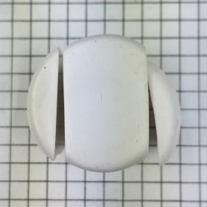 polymer clay letter N alphabet cane free tutorial - cut off edges