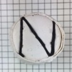 polymer clay letter N alphabet cane free tutorial - cover in white