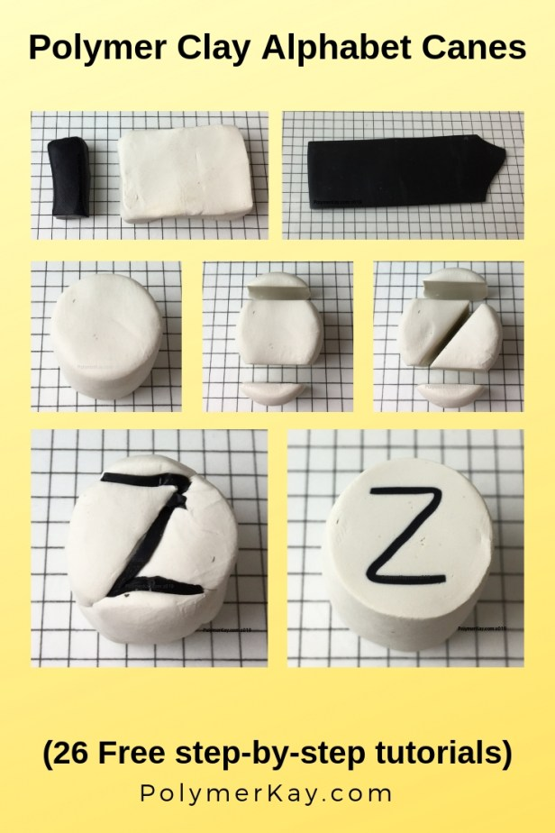 Letter Z alphabet cane tutorial graphic - KayVincent