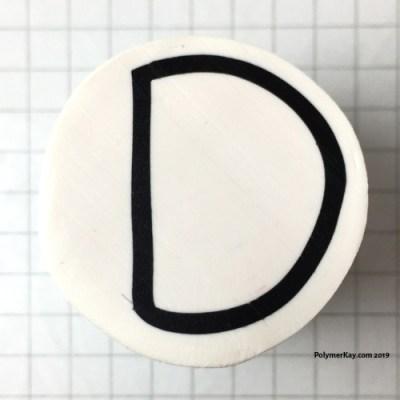 Letter D polymer clay alphabet cane tutorial - KayVincent