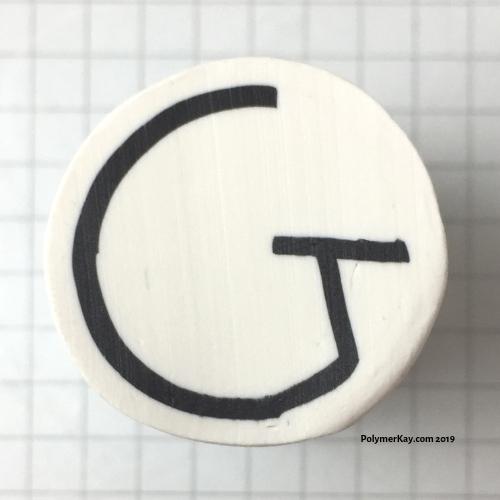 Letter G polymer clay alphabet cane tutorial - KayVincent