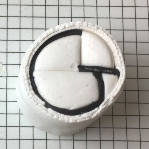 Letter G polymer clay cane - penultimate step - KayVincent