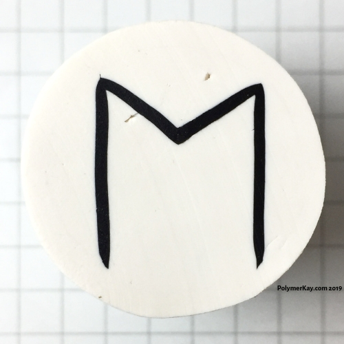 Letter M polymer clay alphabet cane tutorial - KayVincent