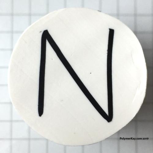 Letter N polymer clay alphabet cane tutorial - KayVincent
